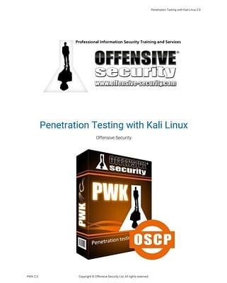 کتاب Penetration Testing with Kali Linux