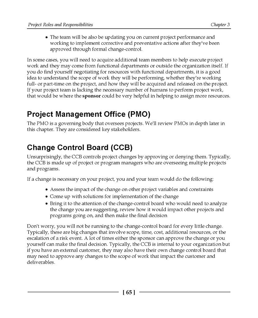 فصل 3 کتاب CompTIA Project+ Certification Guide